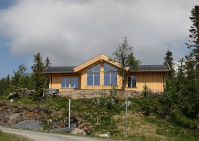 hytte i Valdres, bygd i bindingsverk -3
