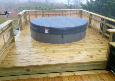Terrasse med badestamp - 2