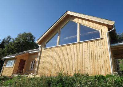 panelering og etterisolering av gammelt tømmerhus -2