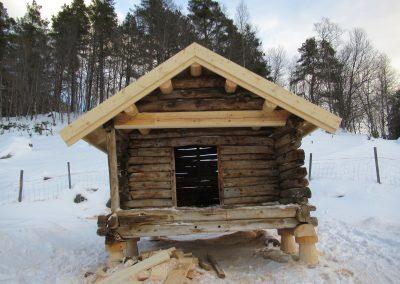 Restaurering av gammelt stolpehus -1