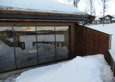 tilbygg hytte med utestue og veranda -1